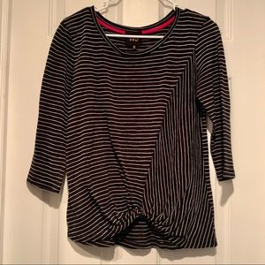 Anthropologie w5 striped knot front top